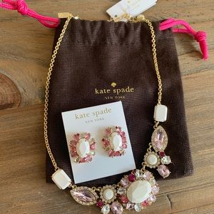 Kate Spade earrings and necklace